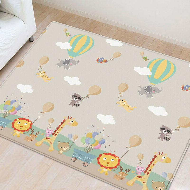 Baby Kids Silk LDPE Activity Crawl Rug