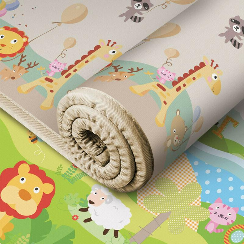 Baby Kids Silk Child Crawl Rug