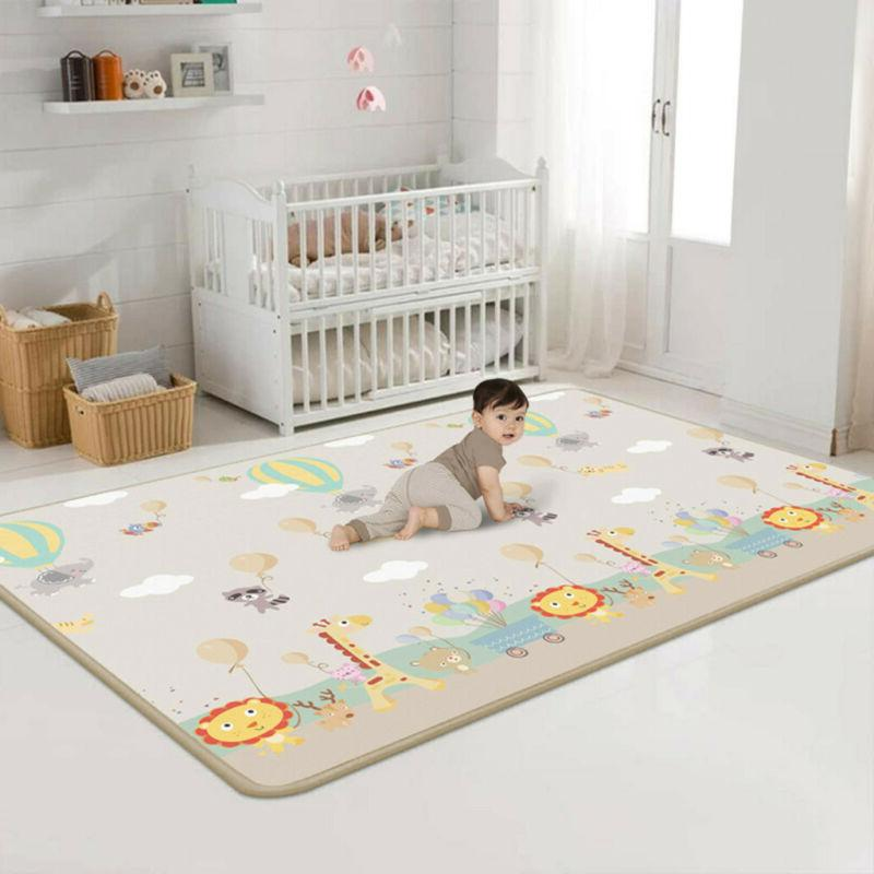 baby kids play mat silk ldpe floor