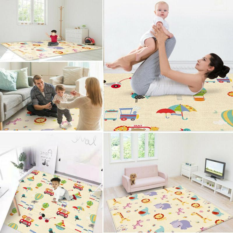 Large Foldable Crawling Mat For Non-toxic Game Gads