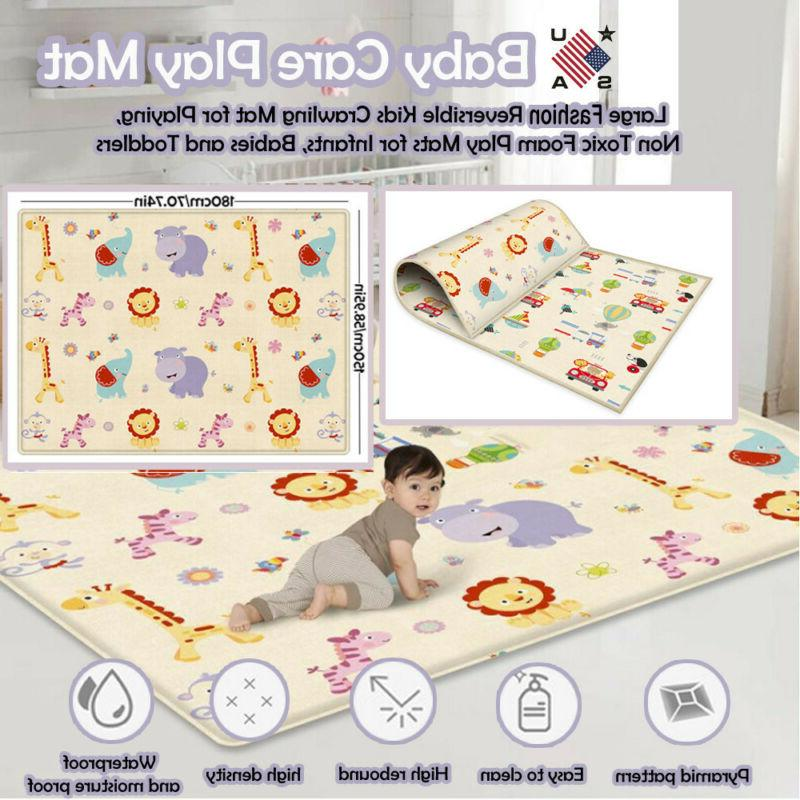 Large Double-sided Crawling Mat For Non-toxic Game Gads