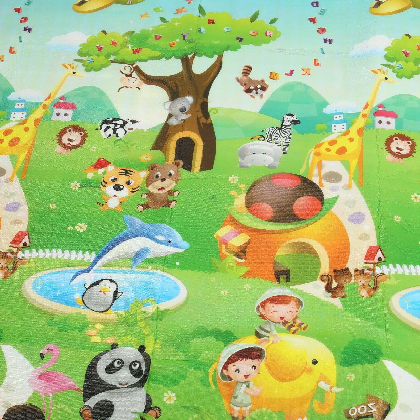79×71 Inches Baby Crawling Toxic Play Game
