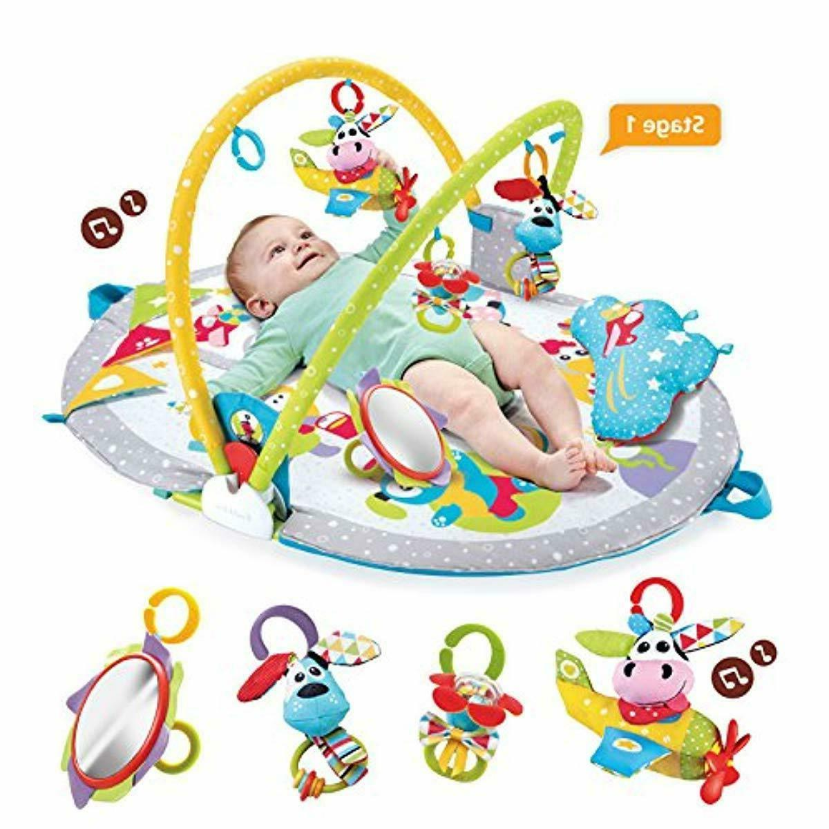 Baby Lay To Sit Up Play Mat Infant Activity Toy Newborns Month