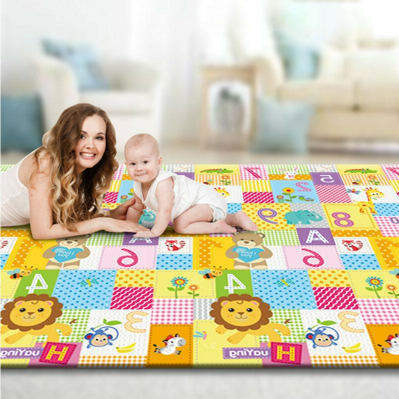 US Baby Play Mat With Fence Interlocking Foam Floor Tiles Wi