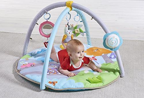 Taf Baby Play Gym Padded Soft Portable, Lightweight, Multi-Sensory Toys Colorful Lights And Detachable Arches, Ideal Gift