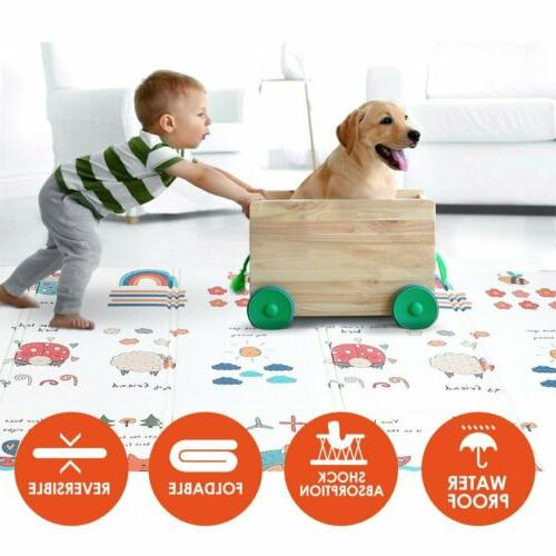 baby play mat foldable reversible non toxic