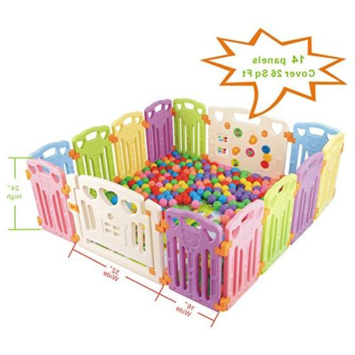 Baby Playpen Centre Safety Yard Home Indoor With 14
