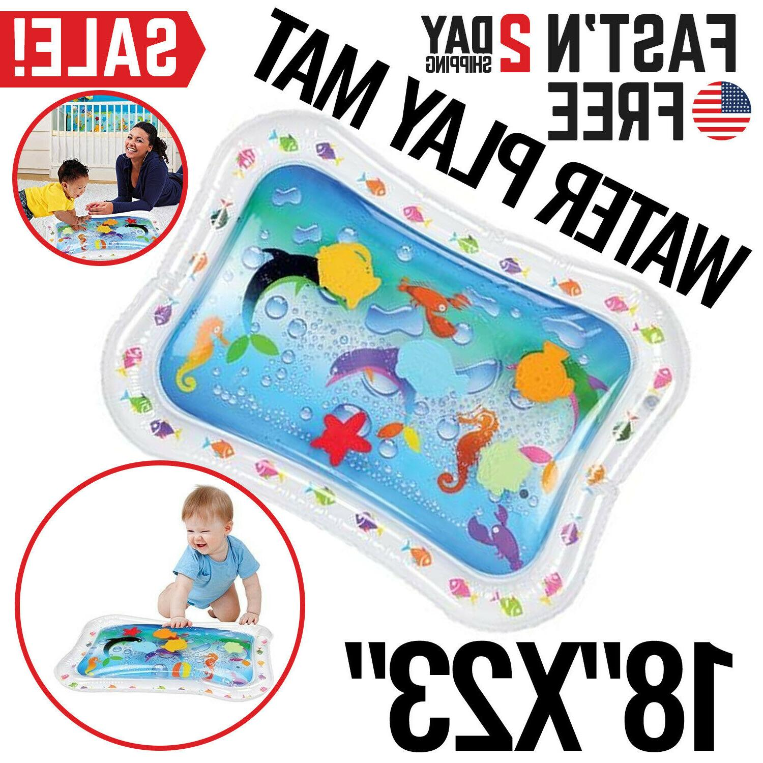 baby water mat tummy time inflatable play