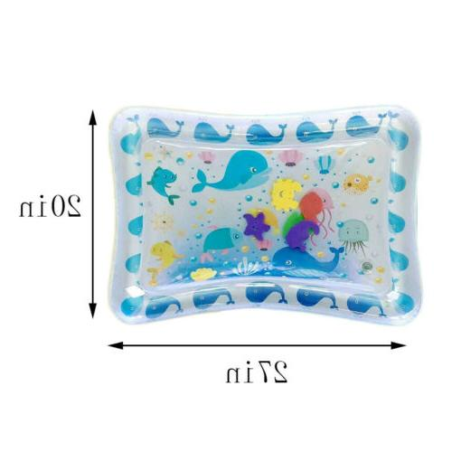 Baby Water Mat Tummy Time Inflatable Mat floor Activity Crawling Kids