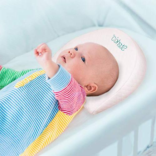 Starkio Bassinet Wedge Gentle 12 Degree Incline for Better Baby Reflux & Congestion. Fully with Cover