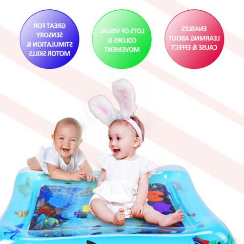 Tummy Baby Water Mat Infant Toys Inflatable 3-9