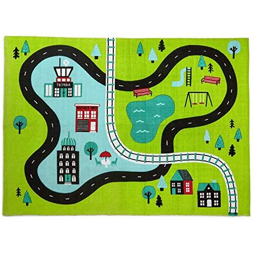 busy city canvas play mat