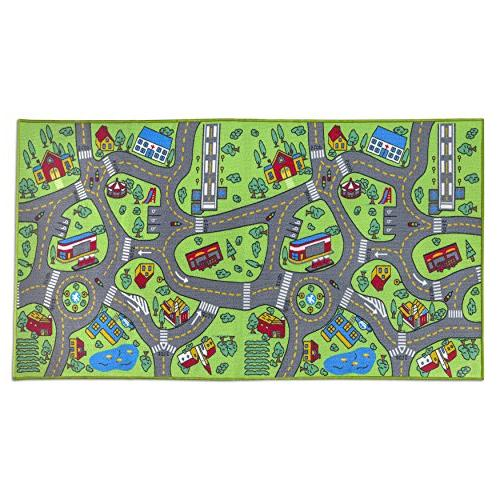 Kids Life Large - Learn & Have Safe, Traffic Multi Color Activity Centerp Great For With Cars