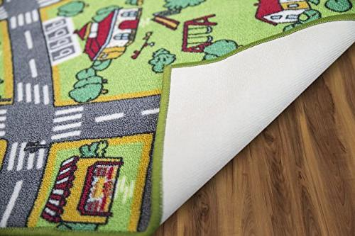 Kids Playmat Life Extra Learn Have Safe, Traffic Multi Activity Play Great Cars For