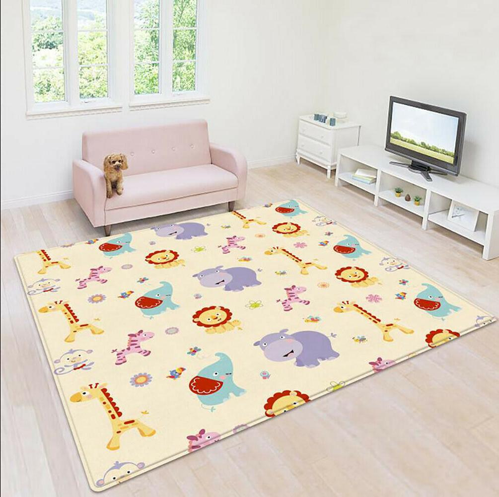 cartoon children double sided folding crawling mat