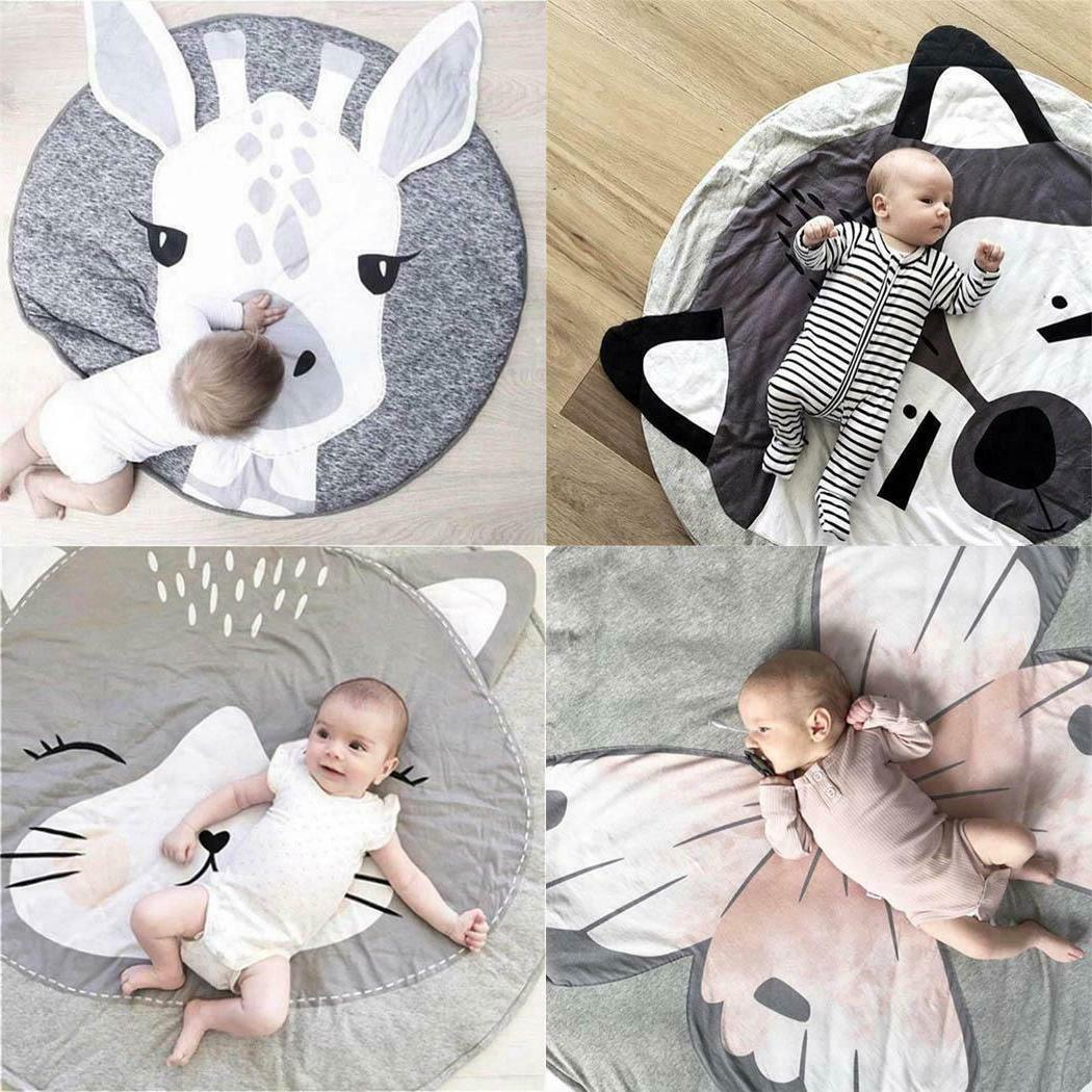 Cartoon Cute Kids Nursery Rug Baby Play Mat Round Carpet Hom