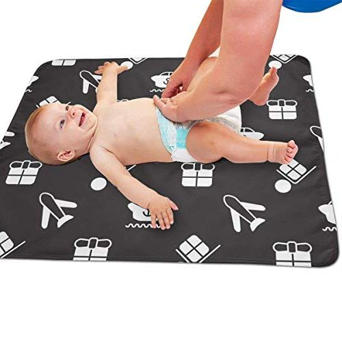 LXXYZ Seamless Portable Diaper Changing Pad Baby Showers and Reusable Able Mat-
