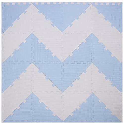 Chevron Tiles Kids Puzzle | for Playspot | Non + Extra Thick Squares for Room Board Fitness