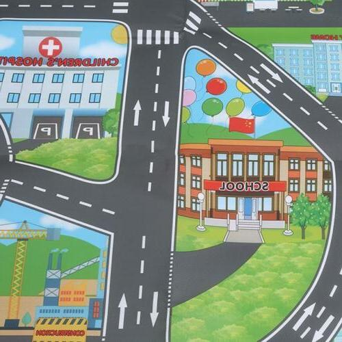 Children City Road Play Mat Car Road Rug Gifts