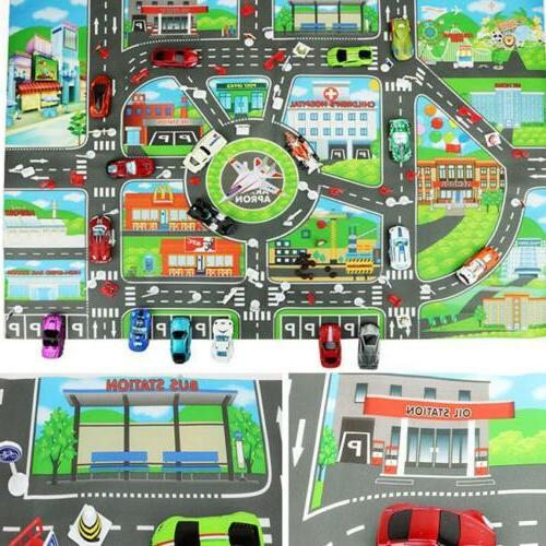 Children City Road Play Mat Car Rug Playmat Gifts LI