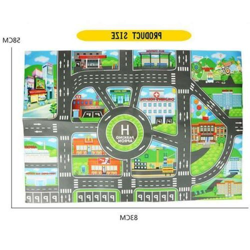 Children City Road Play Rug Playmat Gifts LI