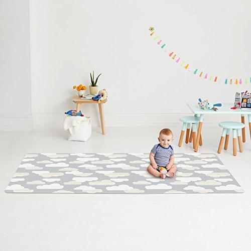 Skip Cloud/Mini Dot Reversible Play Mat, Grey, X