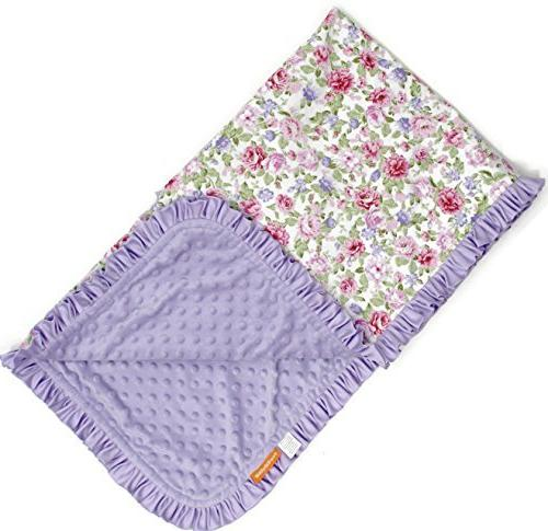 deluxe blankets roses ruffle