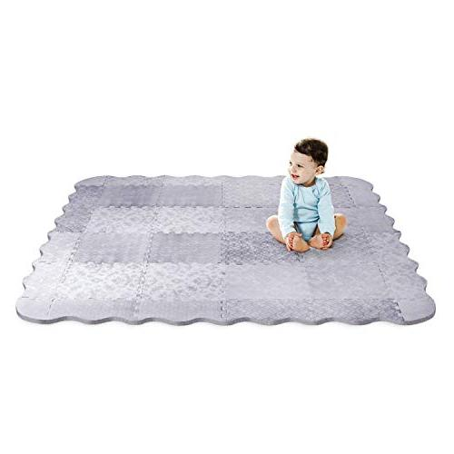 Designer Mat with Playmat Baby Non-Toxic Safety Soft - Babies, Kids Nursery