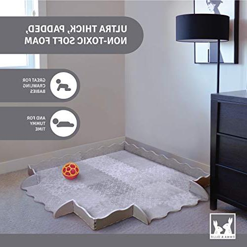 Designer with - Thick Playmat Baby Mat Non-Toxic Safety - Tiles