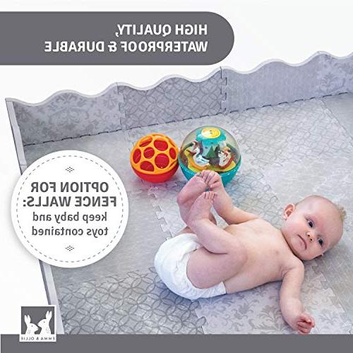 Designer Baby with Playmat Non-Toxic Safety Foam - Tiles for Infants, Babies, Playing Kids Nursery