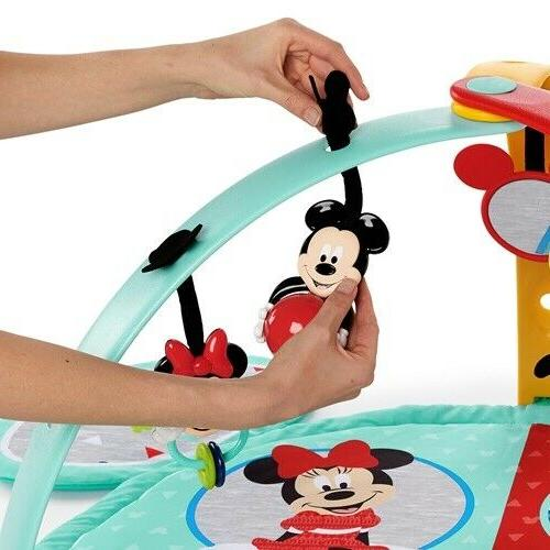 Bright Disney Baby Mickey Easy-Store Activity Gym and Play New
