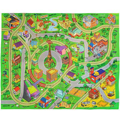 DOUBLE KIDS PLAY MAT Trains Rug City