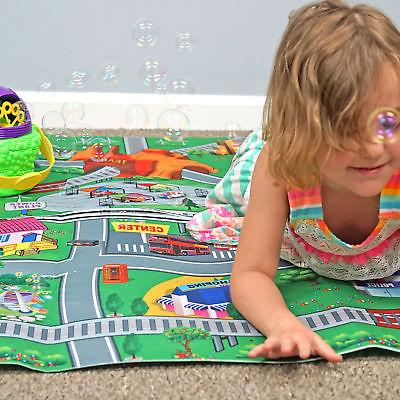 DOUBLE KIDS MAT Roads Rug for City Toys