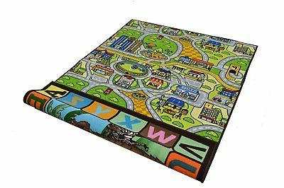 Double 5x7 Reversible Play Mat for Boys Play Room