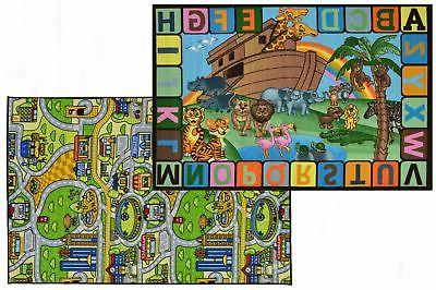 double sided kids rug 5x7 reversible play