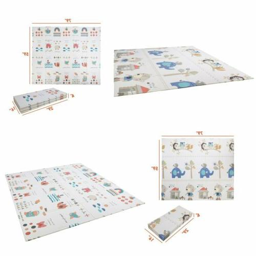 foldable baby play mat reversible non toxic