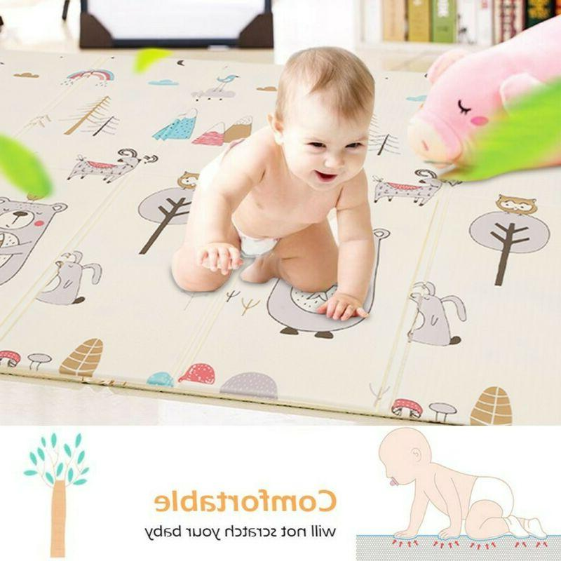 Baby kids Play Mat Foldable Crawling Mat Waterproof Creeping