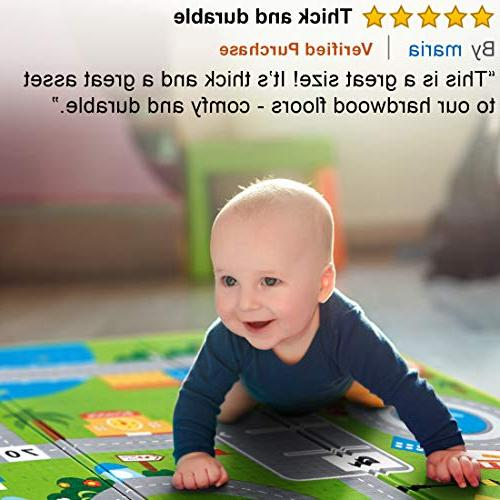 Hape – Large Folding Reversible Mats for or Crawling, Non Playmat for or