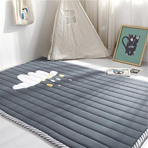 grey kids teepee mat children