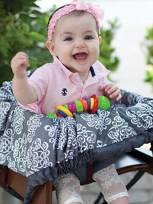 Grocery Cart Cover-5 in 1Play Mat,Changing Pad,Diaper Bag, E
