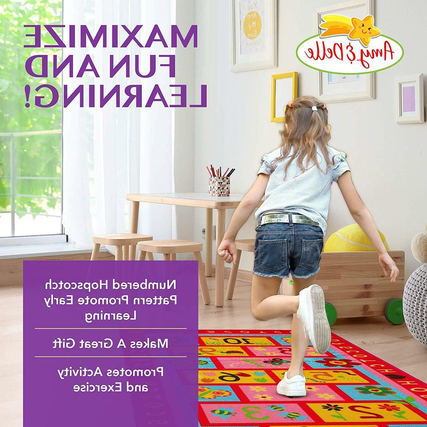 "Hopscotch Play Carpet Extra Large 72""x39"" Educational"