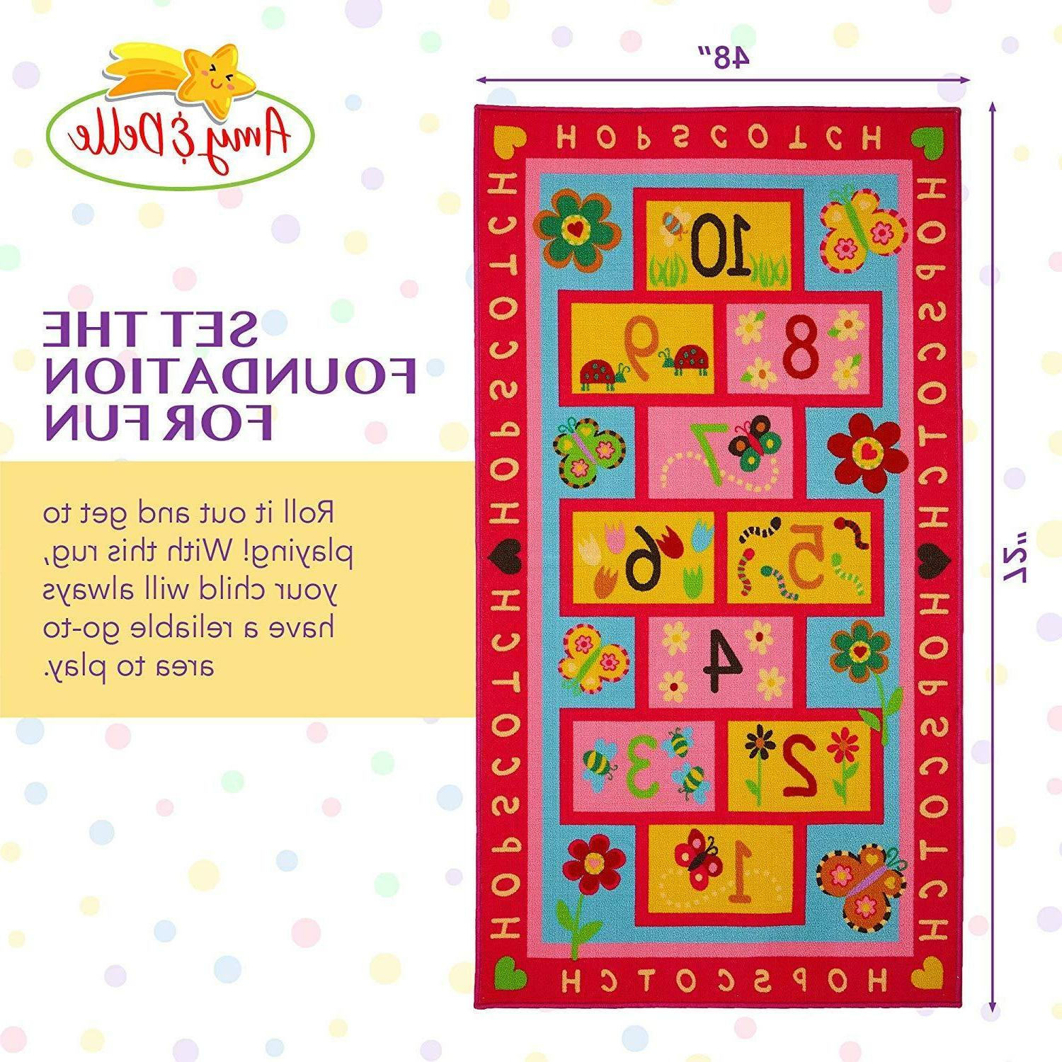 "Hopscotch Play Extra Large & 72""x39"" Fun"