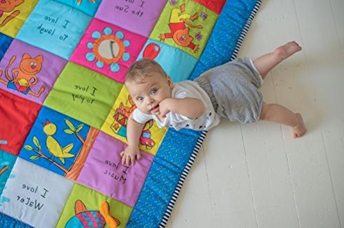 Mat with Baby Safe Plastc Teether Crinkling