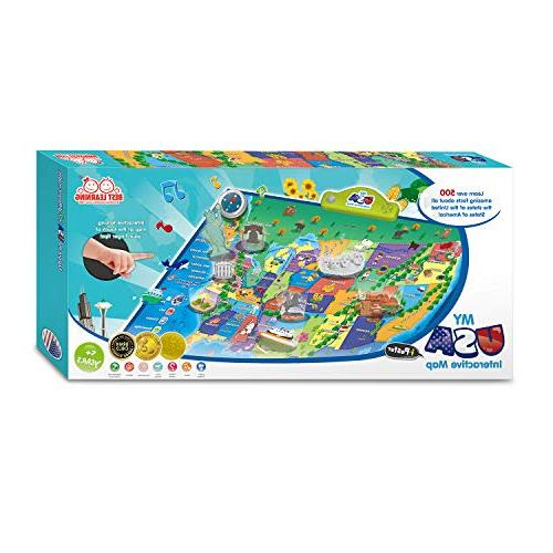 BEST LEARNING i-Poster USA Map Educational Toy for Boys Girls Ages 5 to Years Old - for Kids