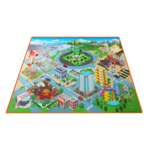 Kids Carpet Crawling Rug Educational Road Traffic Route Map