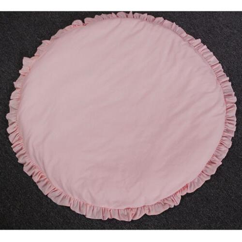 Infant Baby Round Blanket Solid