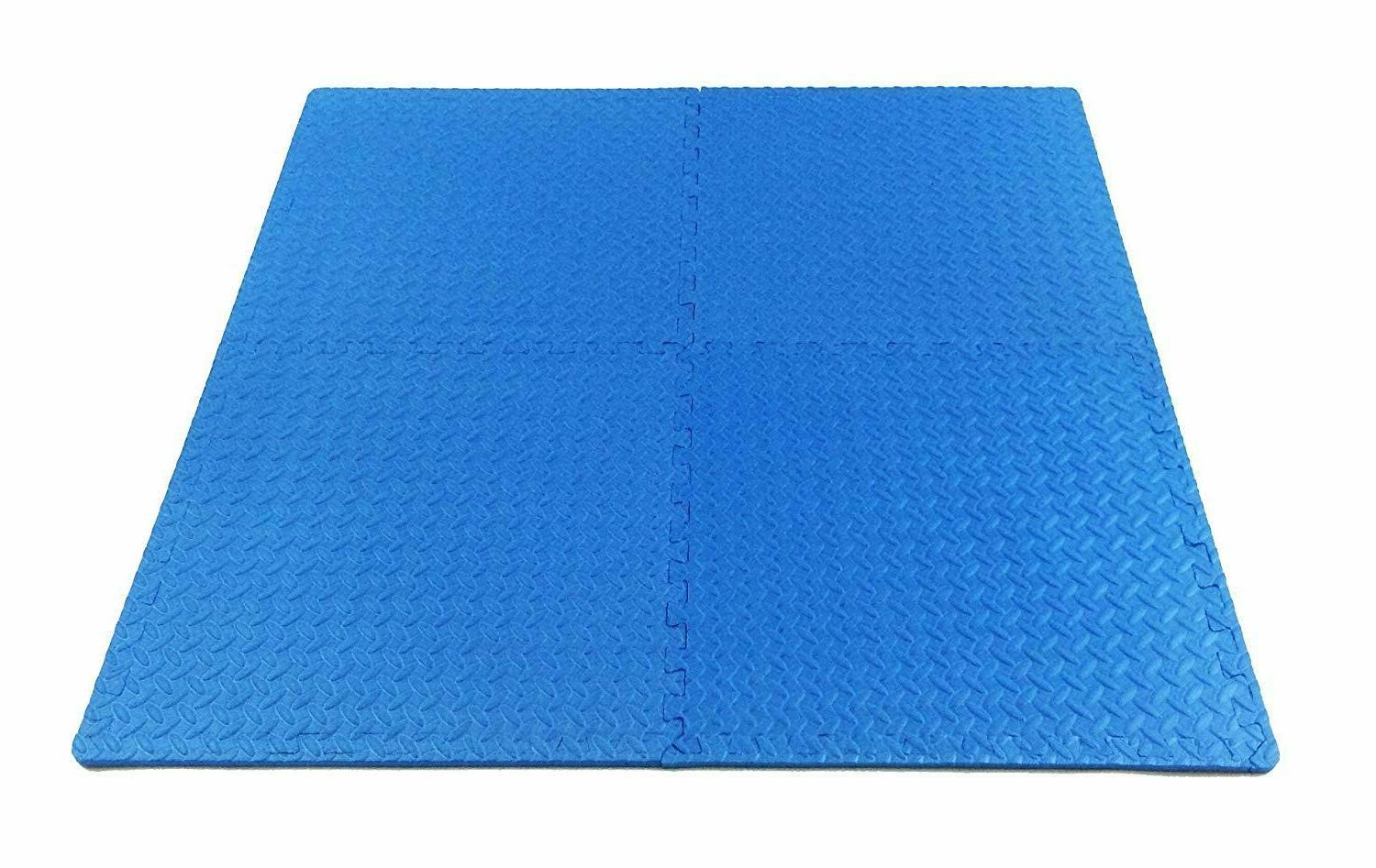 Interlocking Rubber Foam Gym Fitness Exercise Floor Mat NEW SQFt
