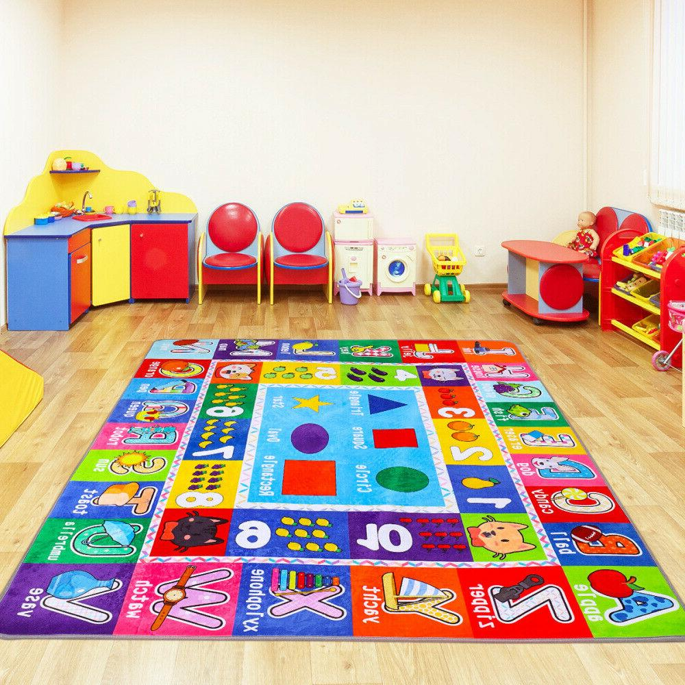 Kids Play Mat Alphabet ABC Numbers Shapes Educational Large