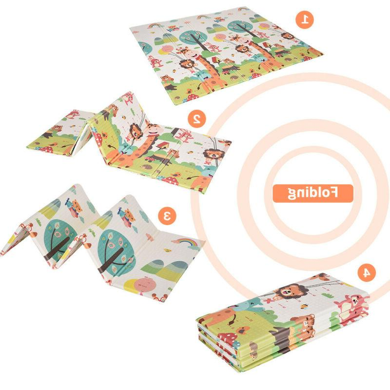 Baby Soft Reversible Crawl Mats For Child Activity Toy