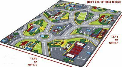 City Map Play mat for Classroom/Baby Room Rubber...